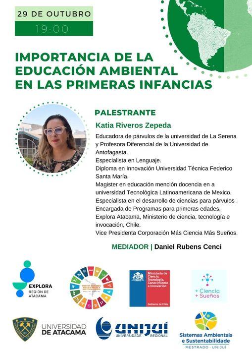 Katia Riveros Zepeda, invitada para exponer en importante reunión de la Unijuí, Brasil.